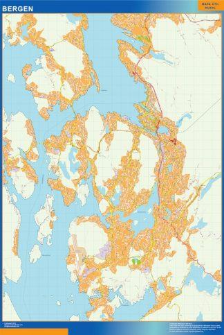 Bergen map in Norway